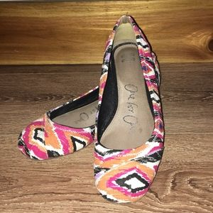 Toms One For One Multi Colored Ballet Flats Sz 7.5